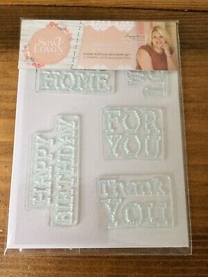 Sara Signature Sew Lovely Cross Stitch Clear Stamp Birthday Thank You Home Love • 5£