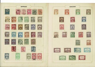 E674 PENNY STARTER Hungary Magyar Collection Hinged On 22sides • 0.01£