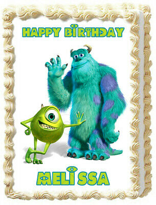 MONSTER INC. Edible Cake Topper Party Image Decoration • 6.48£