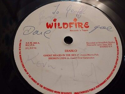 Diablo * Ghost Riders In The Sky * Rare 7  Ep 1979 Signed Excellent  • 9.99£