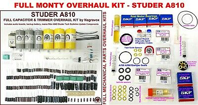 $640.75 • Buy STUDER A810 COMPREHENSIVE Electronic & Mechanical 'FULL MONTY' Overhaul Kit