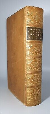 £54.99 • Buy 1883 HOMES WITHOUT HANDS Rev J.G.Wood, Full Tree Calf Binding