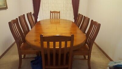 AU550 • Buy Solid Wood Dining Table Set With 8 Chairs