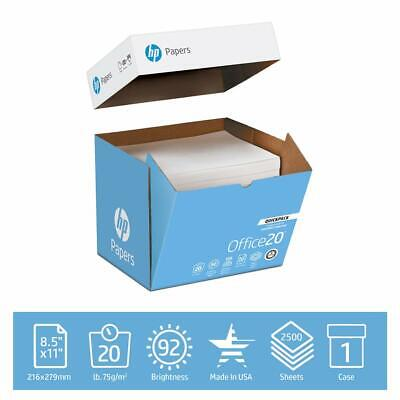 $36.33 • Buy HP Printer Paper Office 20lb, 8.5x11, Quickpack Case, 2500 Sheets, No Ream Wrap