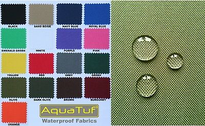 £7.99 • Buy Heavy Duty Tough Waterproof Aquatuf Sd Outdoor Canvas Fabric Material Cover Seat