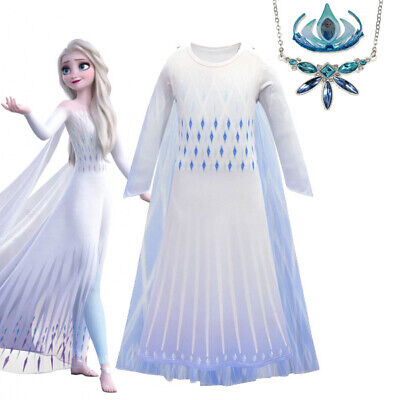 AU29.99 • Buy 2019 New Release Girls Frozen 2 Elsa Costume Party Birthday Dress Size 2-10Yrs