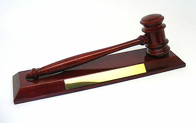 £64.95 • Buy Personalised Freedom Rosewood Hammer & Gavel, Plaque Engraved With Any Message