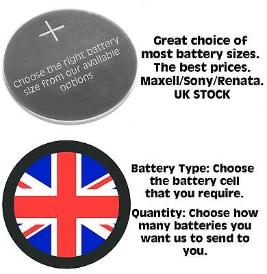 Branded Watch Batteries ALL SIZES Watches Cell Battery Calculator Kitchen Scales • 1.89£