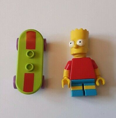 LEGO Bart Simpson Minifigure - Series 1 With Skateboard • 4.99£