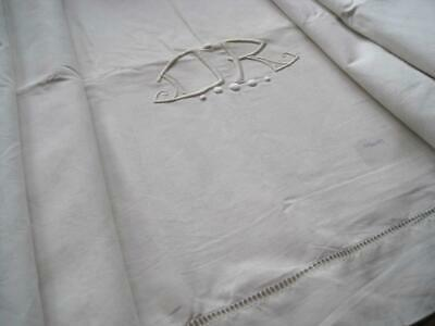 Large Unused White French Linen Metis Sheet Or Curtain, Tablecloth, Projects • 45£