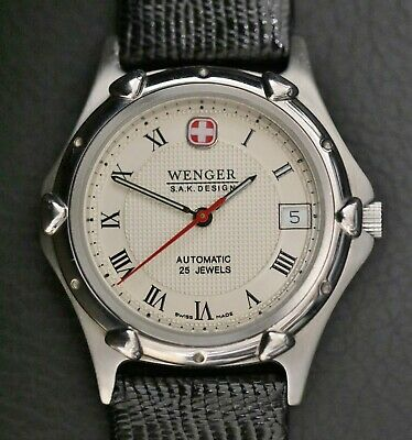 $ CDN423.06 • Buy Wenger S. A. K. Design Swiss Army Knife Automatic 25 Jewel Stainless Steel Watch
