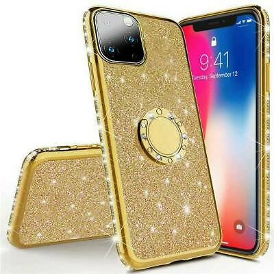 AU8.32 • Buy Luxury Plating Cover Case With Bling Diamond Ring Stand For IPhone 11 Pro Max