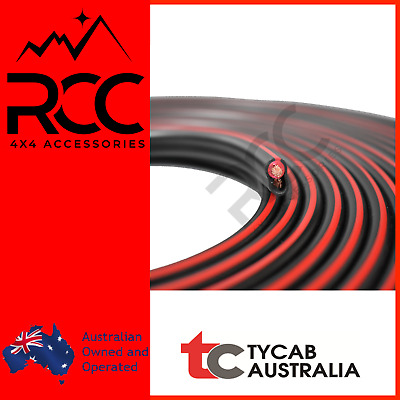AU74.99 • Buy RCC 4X4 Accessories, 8B&S 8mm2 Twin Core Tycab Double Insulated Cable 10m DC-DC