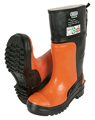 Oregon Yukon 295385/46 Chainsaw Protective Rubber Safety Boot - Black/orange,46 • 78.81£
