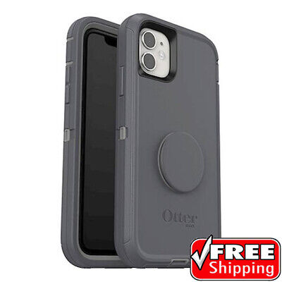 AU110.30 • Buy NEW Otterbox Otter + Pop Defender Series Popsockets Case Grey IPhone 11 ONLY
