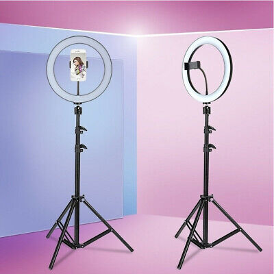 AU72.36 • Buy LED Dimmable Ring Light Studio Photo Video Live Lamp&Camera Phone Holder+Tripod!