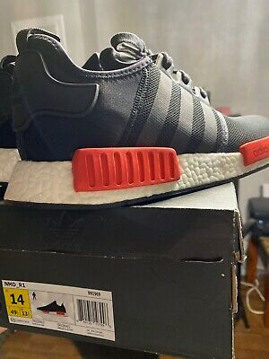 $ CDN155 • Buy Adidas Nmd R1 Red-Blk Size 14 Brand New Verified New Shoes