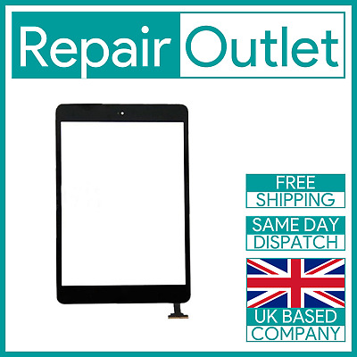 NEW IPad Mini 1 / 2 Black Screen Replacement Touch Digitizer With IC Home Button • 12.99£