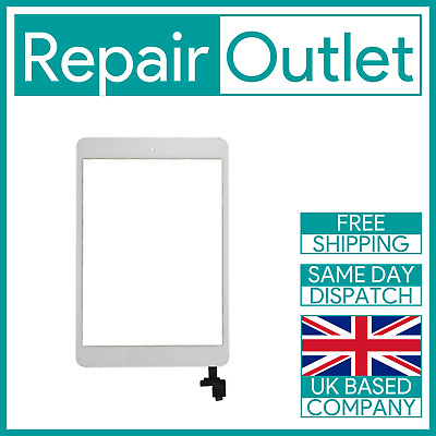 OEM IPad Mini 1 / Mini 2 White Screen Replacement Digitizer With IC Home Button • 14.49£