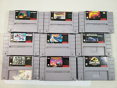 $ CDN125 • Buy Lot Of 9 SNES Games Star Fox, F-Zero, Gradius 3, Firepower 2000