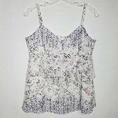 $19.98 • Buy CAbi 272 On The Clock Cami Tank Top Blouse Tiered Adjustable Straps Size M L411P
