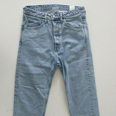 AU89.95 • Buy Bassike Jeans Womens Size W26 L21 Light Blue Classic Crop Salt Wash Denim Japan