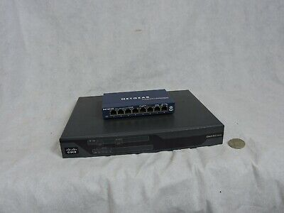AU60 • Buy Used Cisco 800 Series Router 887VA And Netgear  Prosafe 8 Gigabit Switch GS108