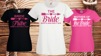 Hen Night T Shirts Hen Do Party Bride T-Shirt Custom Ladies Personalised Printed • 6.45£
