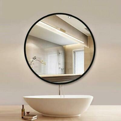 Round Black Wall Mirror Metal Frame Industrial Living Room Bathroom Hallway 60cm • 59.89£