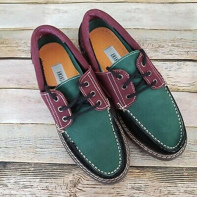 $49.99 • Buy Amanda Smith Leather Suede Deck Shoes 8 M Lace Ups Black Green