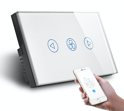 AU54.95 • Buy AU Standard Smart Wifi Celling Fan Dimmer Switch Wireless APP Google Home Alexa