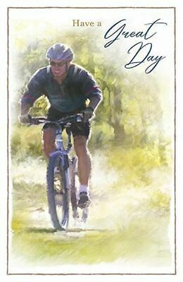 £2.89 • Buy Male Birthday Card Mans Card Cycling Bike Country Made In UK GR