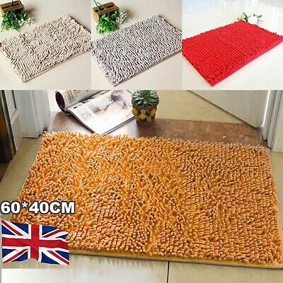 Non-slip Bath Rug Soft Mat Shaggy Microfiber Floor Toilet Mat Bathroom Absorbent • 6.29£