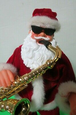 $ CDN40.79 • Buy  Santa Claus Playing Saxophone Musical Moving Figurine 14  Tall Video
