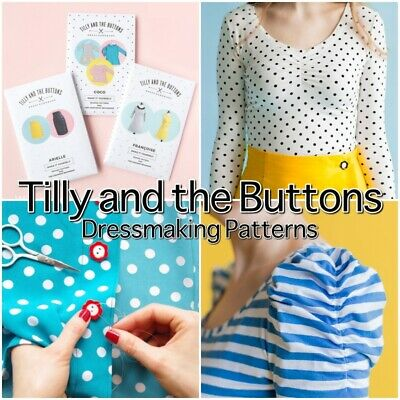 Tilly And The Buttons Paper Dressmaking Patterns- With Colour Instructions Book • 14.75£