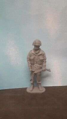 1/16 120mm WW2 BRITISH PARA PARATROOPER RED DEVIL WITH WEBBING & SMLE SOLDIER • 14.99£