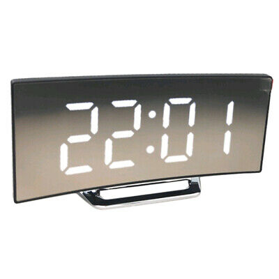 LED Display Alarm Clock Digital Projection Clock With 12/24 Hours Display White • 10.57£