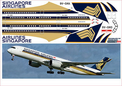 1/144 PAS-DECALS. REVELL. Decal For Airbus A350 Singapure • 8.58£
