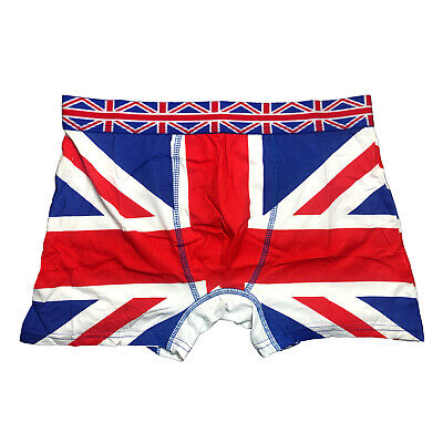 Men's Boxer Shorts UK British Flag Union Jack England Trunk Underwear UJ Cotton • 4.39£