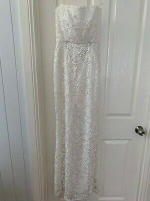 AU200 • Buy Carla Zampatti Lace Strapless Dress Size 6