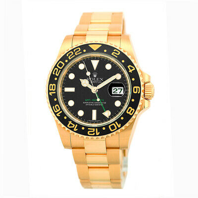 $ CDN40084.63 • Buy ROLEX 18K Yellow Gold 40mm Ceramic Bezel GMT Master II 116718 MINTY Warranty BOX