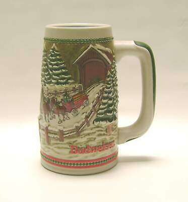 $ CDN20.17 • Buy 1984 Budweiser HITCH PASSING COVERED BRIDGE STEIN Holiday Clydesdale Tankard