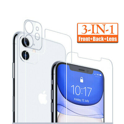 AU2.79 • Buy For IPhone 13 12 11 XR Tempered Glass Screen Protector Camera Lens +Front +Back