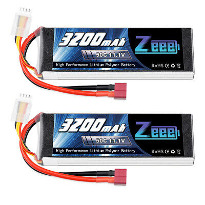 AU69.99 • Buy 2x 11.1V 3200mAh 3S 50C Lipo Battery Deans For RC Helicopter Airplane Car Truck