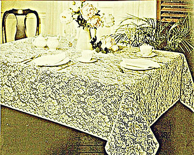 $32.49 • Buy Julia 52x70 Ivory Rectangle Lace Tablecloth Oxford House NWT
