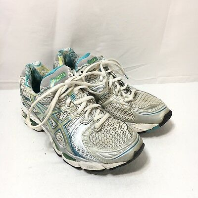 $19.99 • Buy Asics Gel-Kayano 17 Womens 8 Gray Turquoise Blue Lace Up Running Shoes