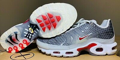 $110 • Buy Nike Air Max Plus TN OG Neutral Grey/Red/White Shoes/Sneakers Mens Size 8 BV1983