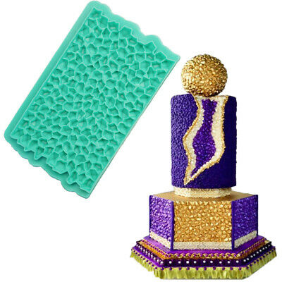 Diamond Silicone Fondant Mould Baking Chocolate Cake Jewel Embosser Border Mold • 5.65£