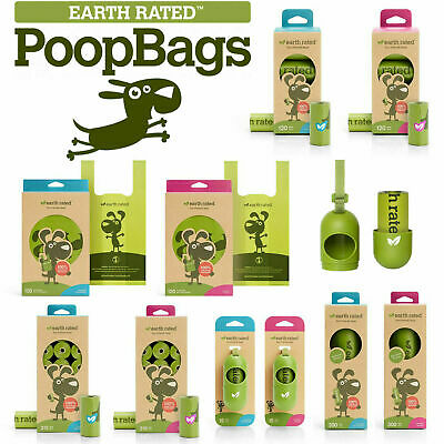 £10.40 • Buy Earth Rated Dog Puppy Poo Bags Poop Waste Refill Roll Lavender Scented Dispenser