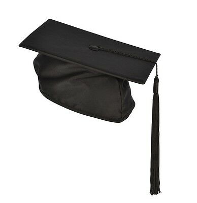 £6.99 • Buy Graduation Mortarboard With Tassel Adult Black Cap University Hat Gown Accessory